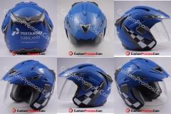 Helm Custom pertamina lubricant